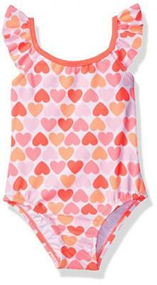 Carter's Toddler Girls One Piece Heart Print Swimsuit Size 2T 3T 4T