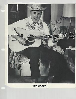 Bill & Mary Carver + Lee Moore Scrapbook Pages & Photo - Grand Ole Opry