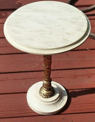 Marble Top & Base Side/Accent Small Round Table, Italy?
