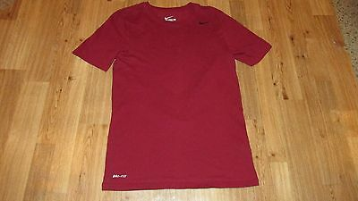 Nike T Shirt, Athletic Cut, Mens Size Small, Burgandy & Black, Good Condition,