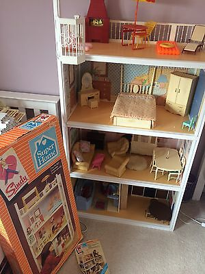 Original 1980's Sindy House Boxed And Furniture