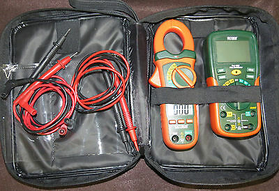 Extech ETK30 Electrical Test Kit w/AC Clamp Meter MA430 & EX205T