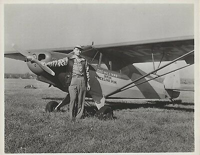 Doc Williams 8x10 Photo Group WWVA Airplane - Grand Ole Opry