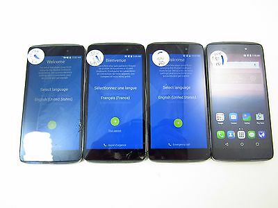 """Lot of 4 Parts & Repair Alcatel 3 4.7"""" (6039s) )(Unknown Carrier)(Check ESN)_PR"""