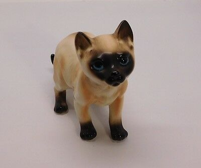 Siamese Cat Figurine Numbered with Original Napcoware Tag Vintage
