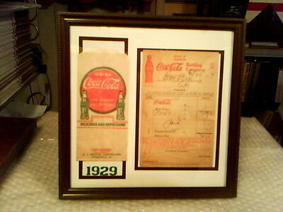 Coca - Cola Rare Original Vintage 1920's Framed Memorabilia Display#4 Excellent!