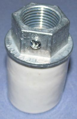 "New Porcelain Light Socket For National Pumps With 1/2"" Conduit"
