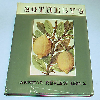 Sotheby's Annual Review Book 1961-62 Art Auction Catalog