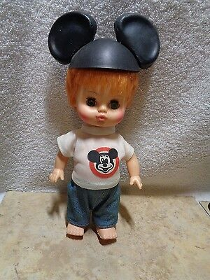 Vintage Horsman Dolls 1971 Jointed Boy Mousketeer With Mickey Ears Disney