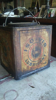 Vintage Square Standard Oil ISO VIS Can old gas station old sign