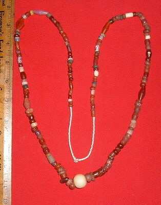 Long Strand of Select Sahara Neolithic Stone Beads Prehistoric African Artifacts