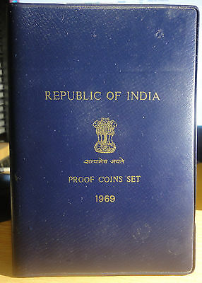 1969 B Republic Of India Gandhi Anniversary Silver 9 Coin Bombay Mint Proof Set