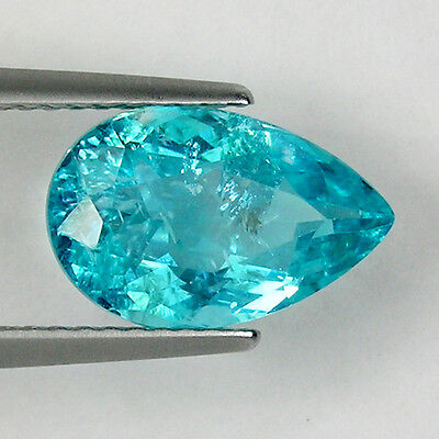 2.96 cts MIND BLOWING NICE PARAIBA BLUE GREEN -NATURAL APATITE - See Vdo  # 3470