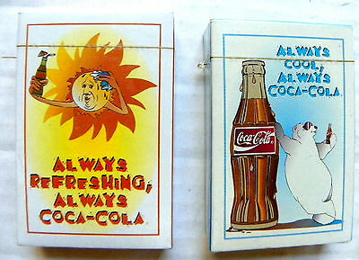 "(Lot Of 2)  ""coca-Cola"" Summer And Winter Seasons Decks Of Playing Cards"