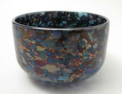 Stunning Isle Of Wight Iridescent English Studio Art Glass Bowl Small