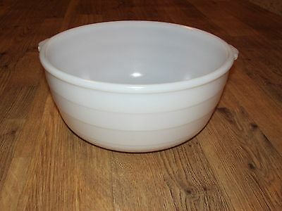 Vintage GE White Mixing Bowl, Ribbed, 10 Inches, Good Condition!
