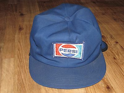 Vintage Pepsi Hat With Flap For Ears, Red, White, Blue, Good Wearable Condition,
