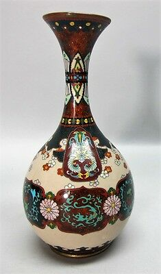 Very Fine MEIJI-ERA JAPANESE CLOISONNE Vase w/ Goldstone c. 1890  antique