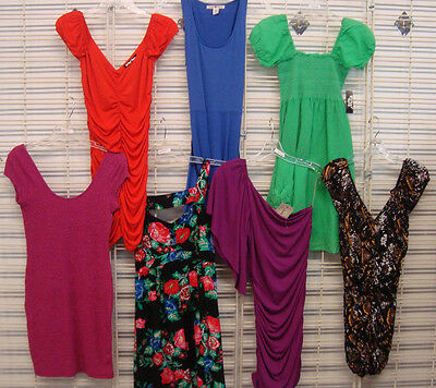 DEREK HEART PLANET GOLD JUNIOR 7 Piece LOT of Summer DRESSES SIZE MEDIUM NWOT