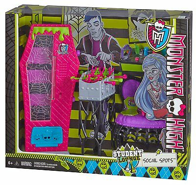 Monster High Student Lounge Social Spots & Accessories *New*
