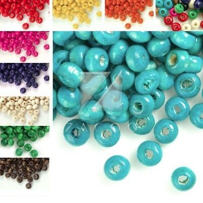 30g(800pcs Approx)Wholesale Wooden Round Wood Spacer Beads 3x4mm WBSET01