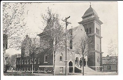 1909 The First Evangelical Church in Elkhart, IN Indiana PC