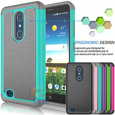 Shockproof Hybrid Rugged Rubber Case Protective Cover for ZTE Blade X Max Z983