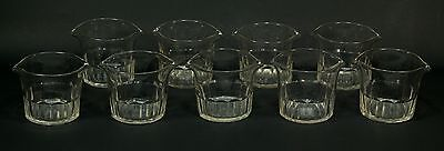 = FINE 1790's Georgian Cut Crystal Set of 9 Wine Glass Rinsers Coolers