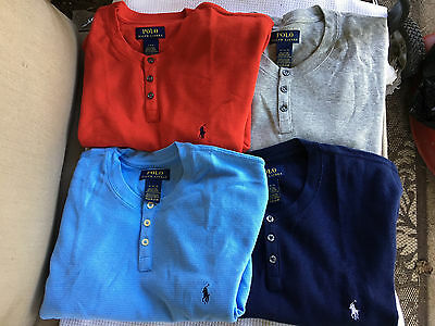 NWT Polo Ralph Lauren Waffle-Knit Henley Sleep Shirt Short Sleeve Pajama M/L/XL