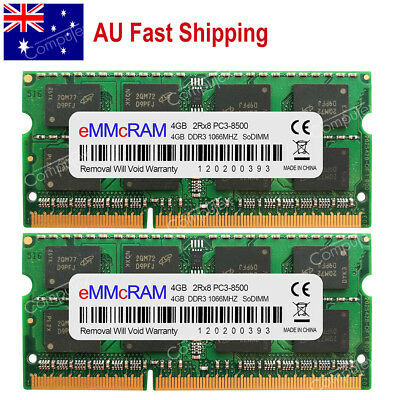 AU 8GB 2x4GB PC3-8500 DDR3-1066 204pin MacBook Pro Mid 2010 iMac Mac MINI Memory