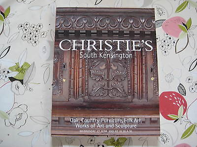 Christies Catalogue Oak, Country Furniture & Works Of Art Lon Jun01
