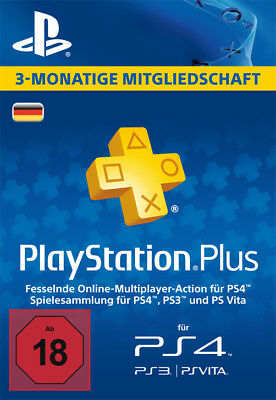 SONY COMPUTER ENTERTAINMENT Playstation Plus Live Card - 3 Monate