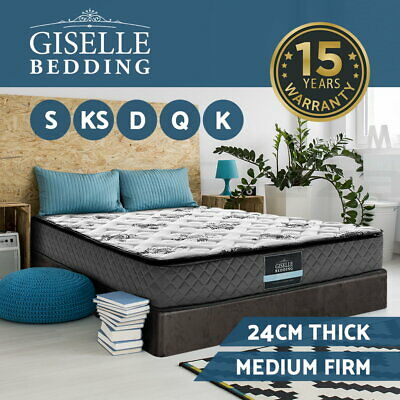 Giselle Bedding Mattress QUEEN DOUBLE KING SINGLE Size Pocket Spring Foam