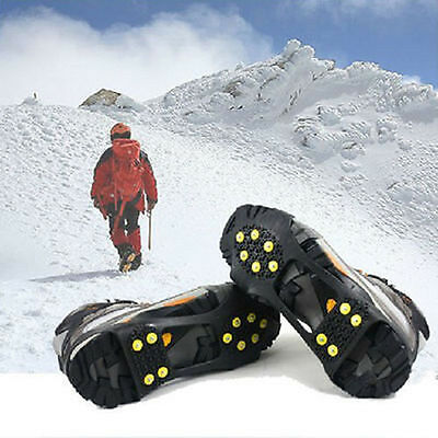 Non-slip Snow cleats Anti-Slip Overshoe Studded Ice Traction Shoes Covers Spike*