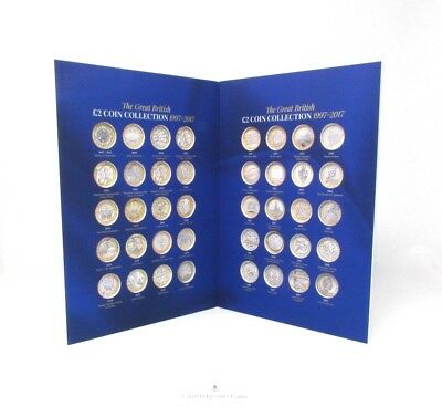 2018 Edition Great British £2 Coin Hunt Collectors Coin Album Gift BLUE