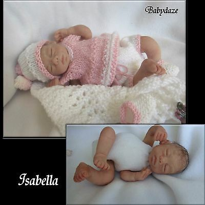 "Ooak Unique  Artist Hand Sculpted 7.5"" Jointed  Baby Girl  - Isabella"