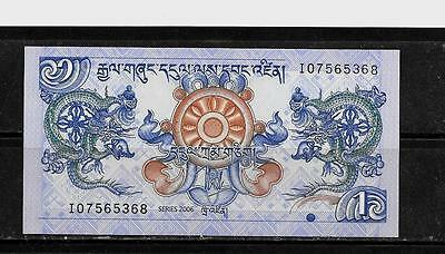 Bhutan #27 2006 Unc Mint  Ngultrum Banknote Bill Note Currency Money