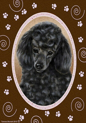 Large Indoor/Outdoor Paws Flag - Black Poodle 17006