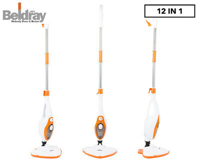 Beldray 12-in-1 Multifunctional Steam Mop - White