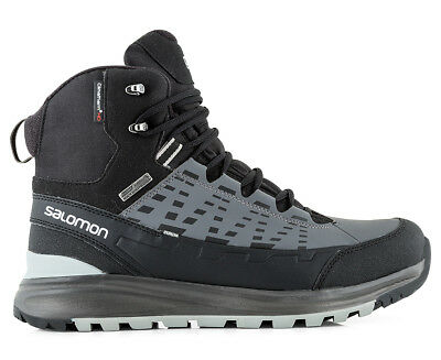 Salomon Men's Kaipo Mid Boot - Black/Autobahn/Pewter