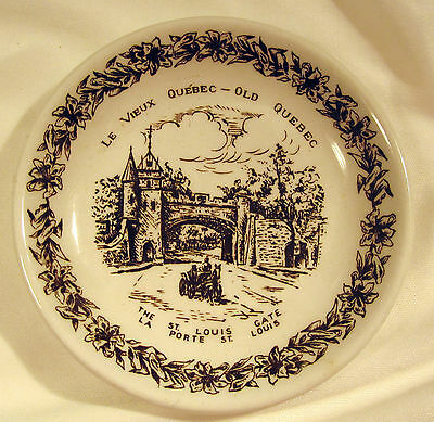 Wood & Sons Le Vieux Quebec English Ironstone The St Louis Gate Pin Dish