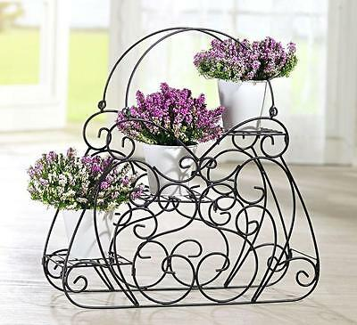 xxl damen handtasche blumen pflanzen treppe garten ferienhaus balkon a ware eur 7 99. Black Bedroom Furniture Sets. Home Design Ideas