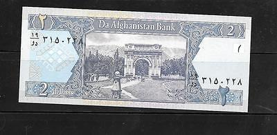 AFGHANISTAN #65a 2002 UNCIRCULATED 2 AFGHANIS BANKNOTE BILL NOTE PAPER MONEY