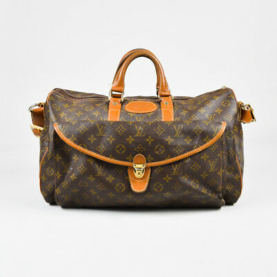 VINTAGE Louis Vuitton The French Luggage Co. Brown Canvas Monogram Weekender Bag