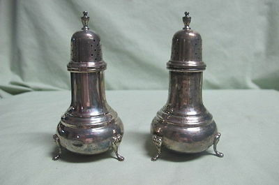 Sterling Footed Salt and Pepper Shakers 49 grams