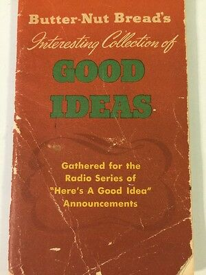 Vintage Butter-Nut Bread's Interesting Collection Of Good Ideas Booklet