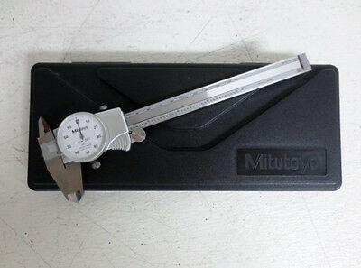 "Mitutoyo No. 505-742 DIAL CALIPER 6"" Shock Proof W/ Hard Case ~FREE SHIPPING ~"