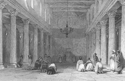 Bethlehem WEST BANK BASILICA CHURCH OF NATIVITY CHAPEL, 1836 Art Print Engraving