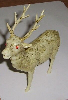 Wonderful Vintage Christmas Reindeer Celluloid Red  Eyes