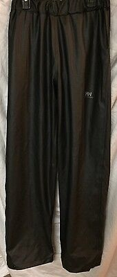 Helly Hansen Voss Rain Pants  Junior Youth  Size 12 Black NWOT.